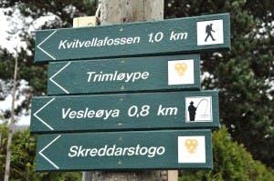 Valdres valdresregionen tur fottur fjelltur skiltet Oppland