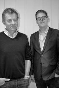 Eiendomsansvarlig i Lunner Almenning Fredrik Bärnholdt og bestyrer Bjørn Niklas Sjøstrøm.