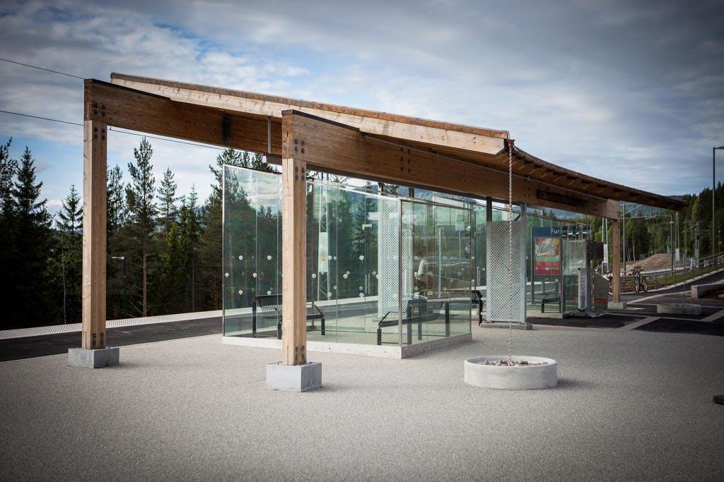 Hadeland Harestua stasjon Sagparken Oppland