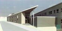 Gjøvikregionen International School. Illustrasjon: Kontur