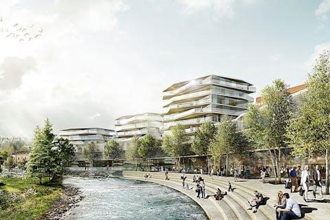Gjøvik Gjøvikregionen Farverikvartalet byutvikling Oppland