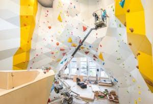 Tyrili klatresenter er dimensjonert for fri utfoldelse. Her tilbys barneklatring, treningsgrupper, aktivitetsgrupper og diverse ferietilbud. Foto: Lars Marius Bækkevold