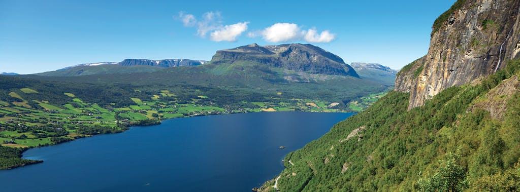 Utsikt over Vang i Valdres