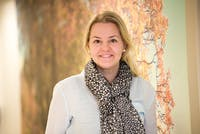 Gjøvikregionen Landsbyen Dokka. Prosjektleder for Landsbyen, Ingrid Bondlid. Foto: Erland Flaten