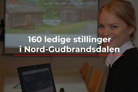 Prosjektleiar Ida Amble Ruge legg fram over 160 ledige stillingar. Foto: Bjørn Brandt